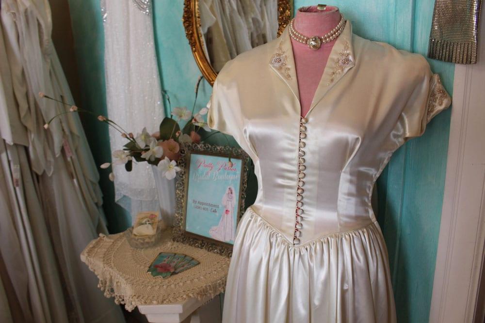 1940s Satin Dress